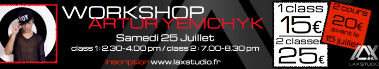 Artur Yemchyk Cours Dance Ukraine Paris Danse Lax Studio Ecole Workshop