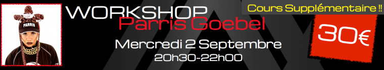 Parris Goebel Lax Studio Ecole danse dance cours paris hip hop