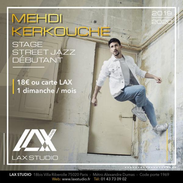 mehdi kerkouche street jazz cours class paris lax studio laxstudio ecole school