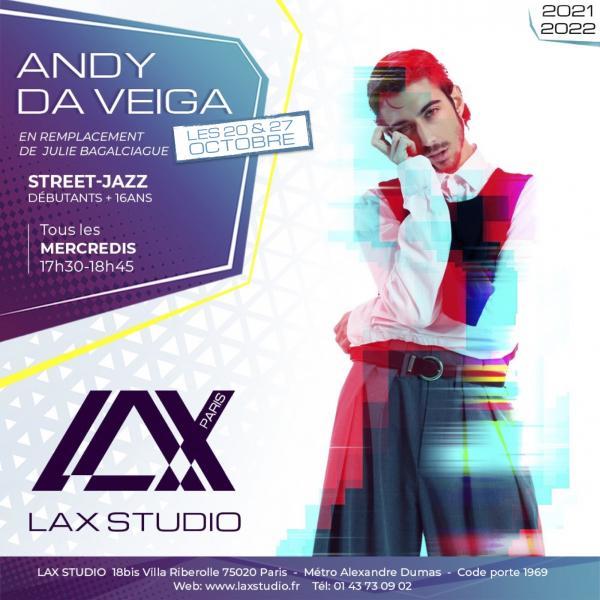 andy da veiga street jazz paris france lax studio ecole school cours class hiphop dance danse hip hop dancehall