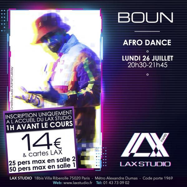 boun afrobeatz cours class paris lax studio france cours class danse dance hip hop street jazz