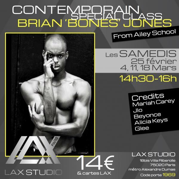 brian jones bones ailey alvin contemporain paris france lax studio ecole school cours class contemporain contemporary dance danse