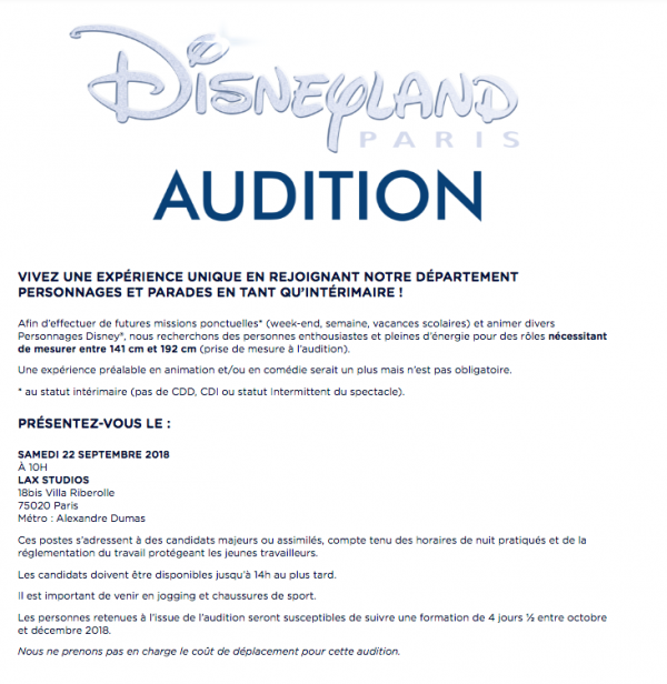 disney disneyland audition casting paris lax studio ecole school paris france cours class hiphop dance danse