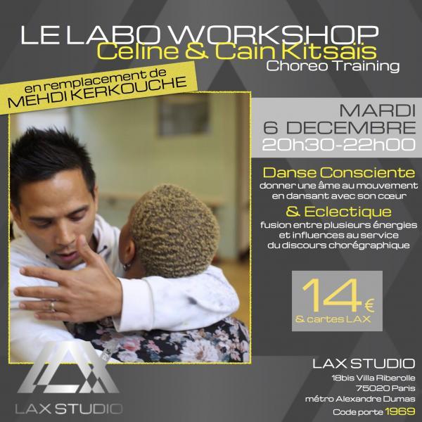 celine kitsais rotsen cain workshop stage danse dance cours class paris france lax studio ecole school