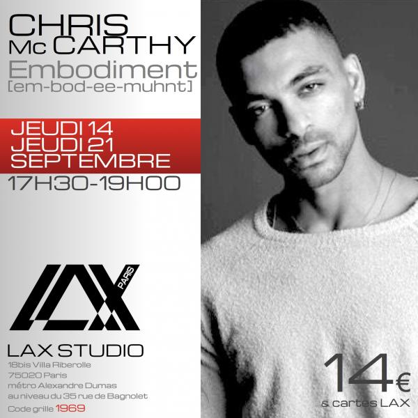 chris Mc carthy embodiment workshop stage danse dance cours class paris france lax studio ecole school