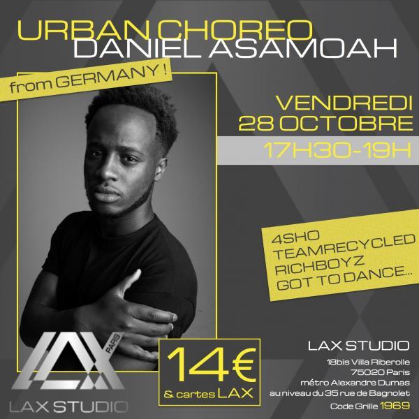 daniel asamoah cours class paris lax studio france cours class danse dance hip hop street jazz