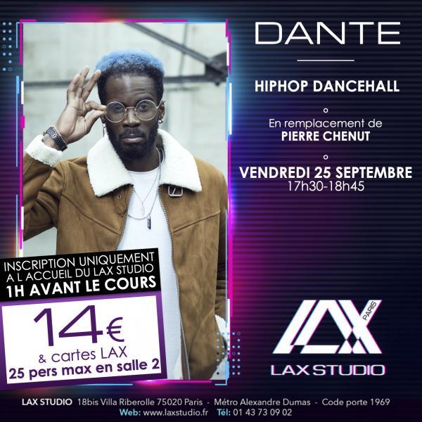 dante ecole school paris lax studio cours class hip hop danse