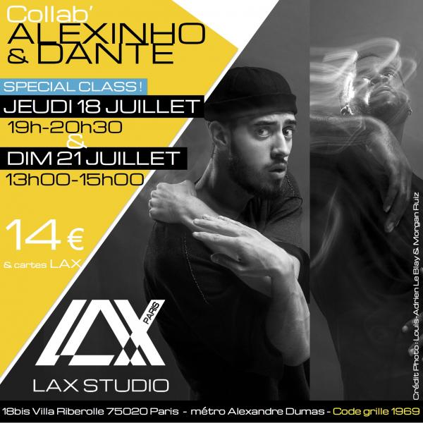 dante alexinho cours class paris lax studio france cours class danse dance hip hop street jazz