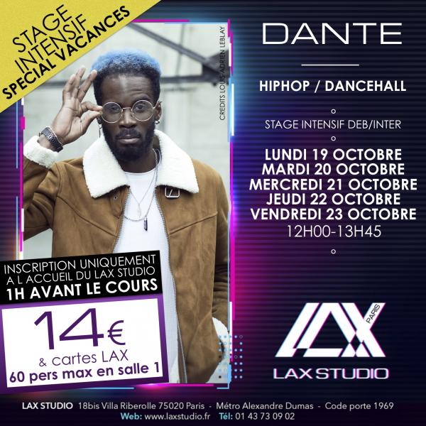 dante ecole school paris lax studio cours class hip hop danse
