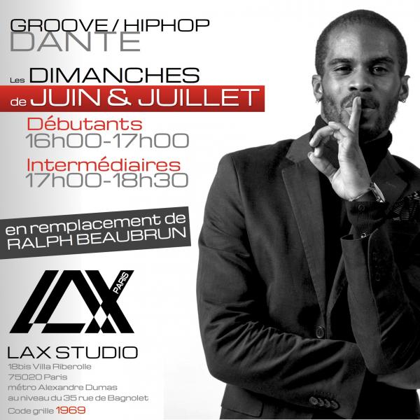 dante cours class paris lax studio france cours class danse dance hip hop street jazz