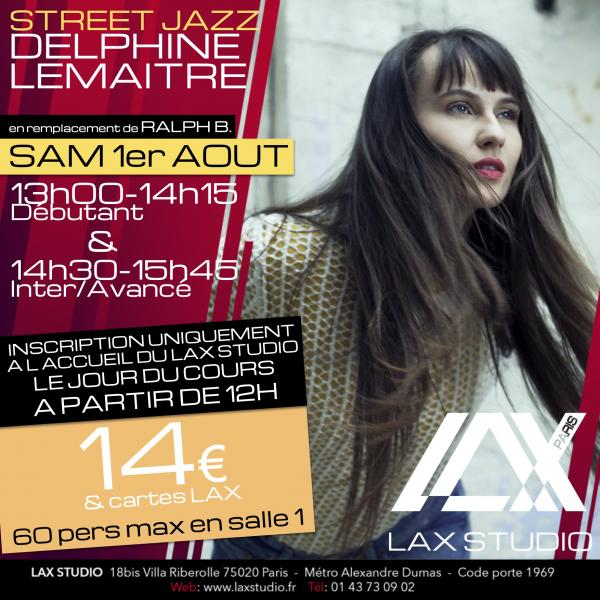 delphine lemaitre ralph beaubrun ecole school paris lax studio cours class hip hop danse