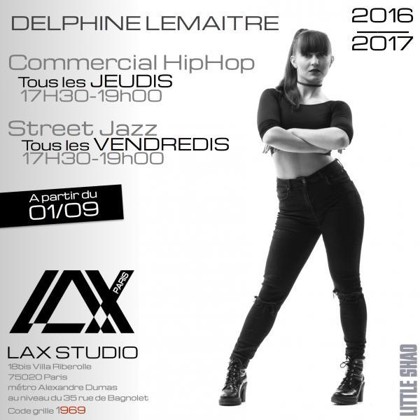 delphine lemaitre cours class paris lax studio france cours class danse dance hip hop street jazz