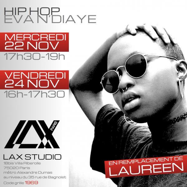 eva ndiaye cours laureen parruitte class paris lax studio france cours class danse dance hip hop street jazz