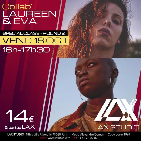 eva ndiaye laureen parruitte hiphop la style ecole school paris lax studio cours class hip hop danse