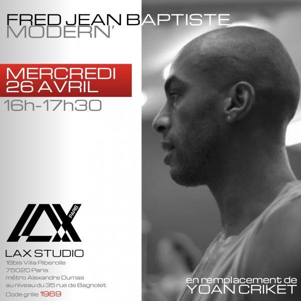 fred jean baptiste modern LAX STUDIO ECOLE SCHOOL DANSE DANCE PARIS FRANCE COURS CLASS HIPHOP