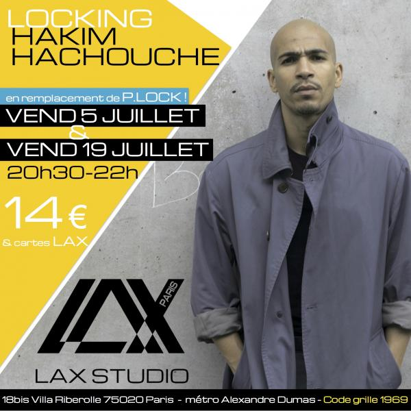 hakim hachouche plock lock locking LAX STUDIO ECOLE SCHOOL DANSE DANCE PARIS FRANCE COURS CLASS HIPHOP