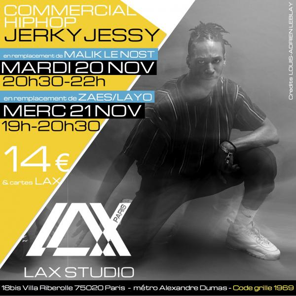 jerky jessy commercial hiphop ecole school paris lax studio cours class hip hop danse