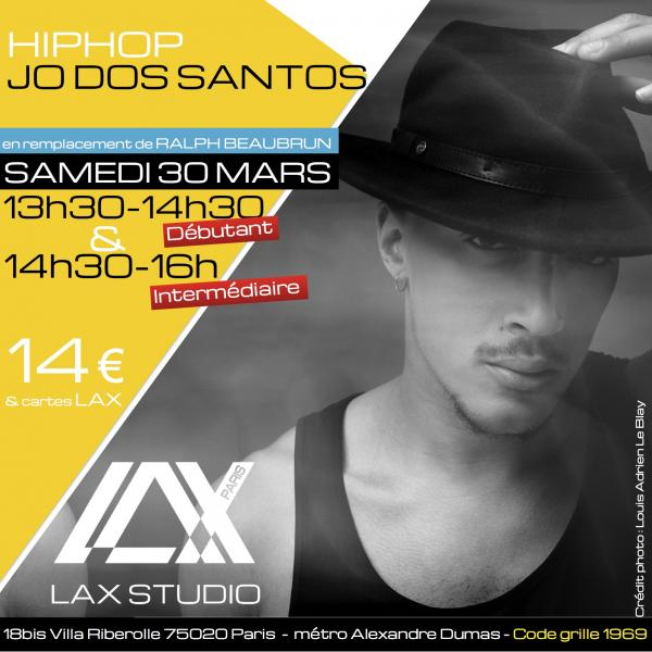 jo dos santos hiphop ecole school paris lax studio cours class hip hop danse