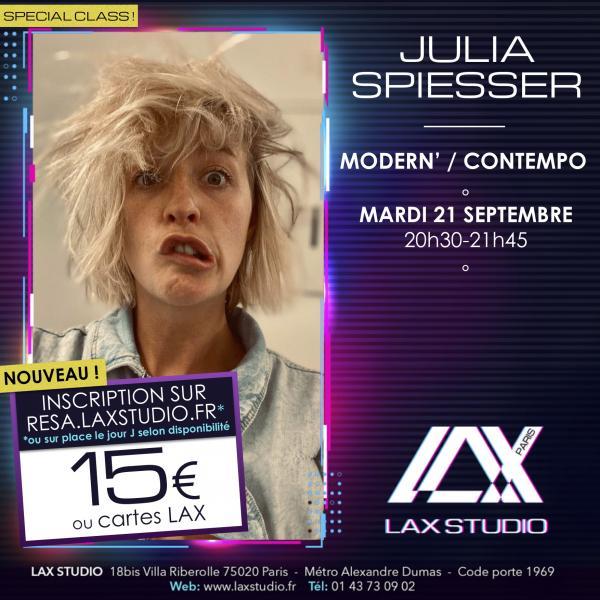 julia spiesser LAX STUDIO ECOLE SCHOOL DANSE DANCE PARIS FRANCE COURS CLASS HIPHOP modern