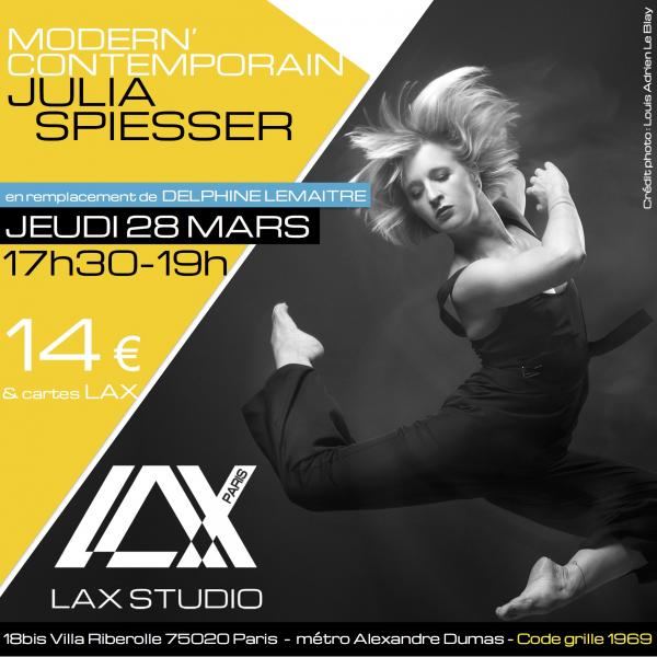 JULIA SPIESSER LAX STUDIO ECOLE SCHOOL DANSE DANCE PARIS FRANCE COURS CLASS HIPHOP