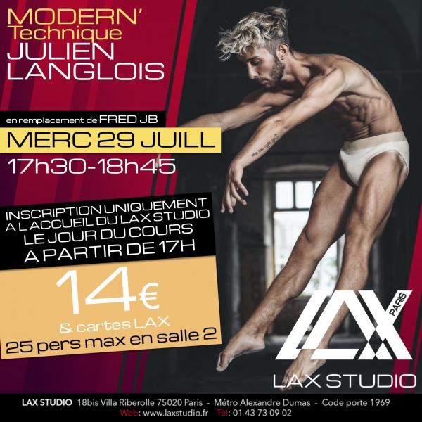 JULIEN LANGLOIS LAX STUDIO ECOLE SCHOOL DANSE DANCE PARIS FRANCE COURS CLASS HIPHOP