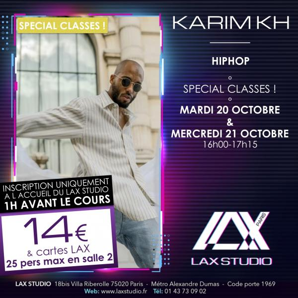 karim kh paris france lax studio ecole school cours class hiphop dance danse hip hop