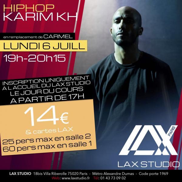 karim kh paris france lax studio ecole school cours class hiphop dance danse hip hop