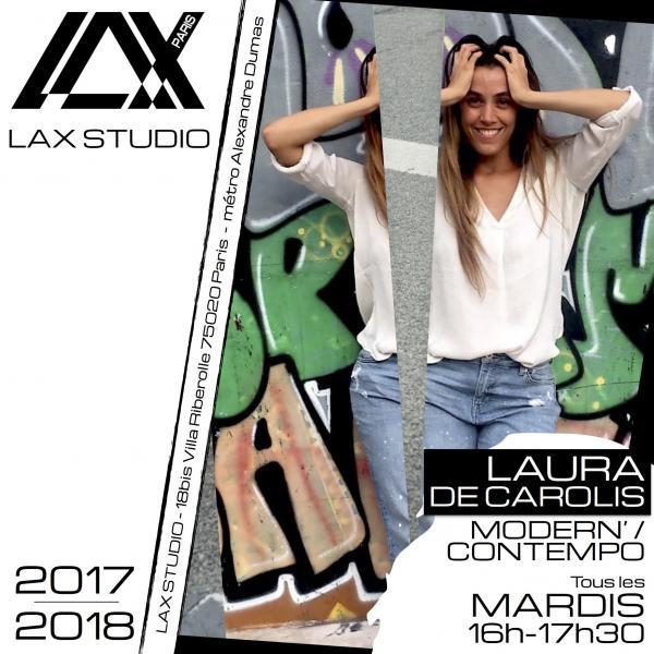 laura de carolis modern contempo LAX STUDIO ECOLE SCHOOL DANSE DANCE PARIS FRANCE COURS CLASS HIPHOP modern