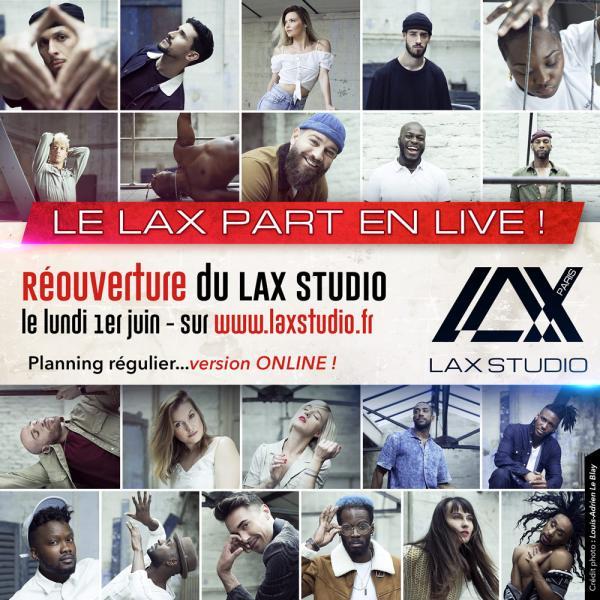 ouverture reouverture LAX STUDIO ECOLE SCHOOL DANSE DANCE PARIS FRANCE COURS CLASS HIPHOP