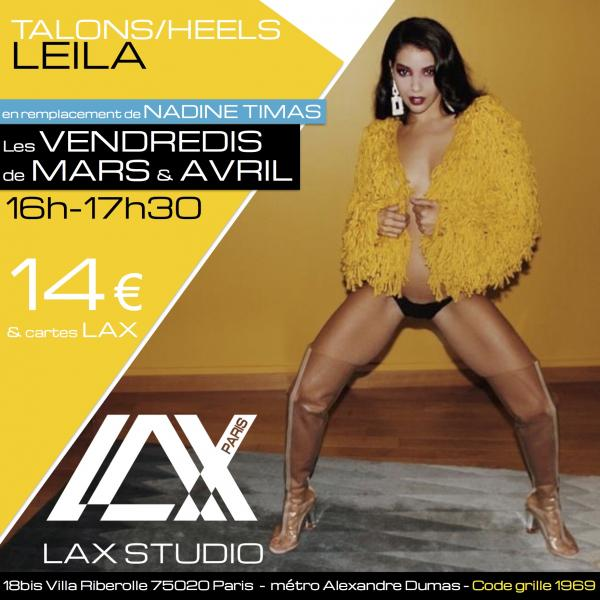 leila medour talons heels LAX STUDIO ECOLE SCHOOL DANSE DANCE PARIS FRANCE COURS CLASS HIPHOP