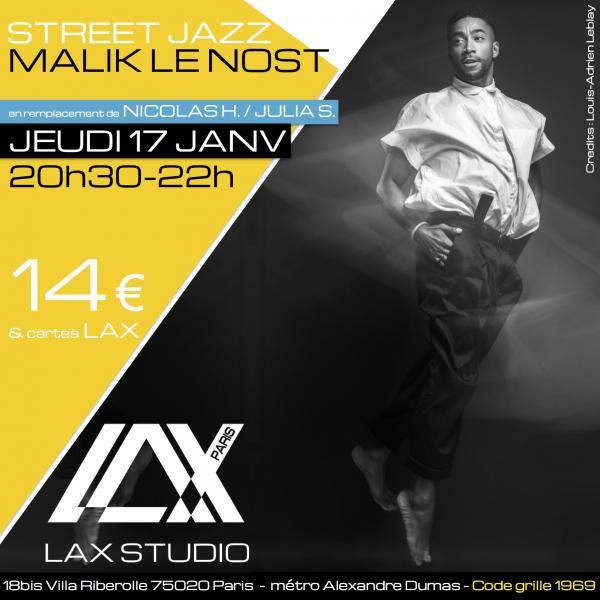 malik le nost class cours hiphop danse dance paris france lax studio ecole school jo dos santos