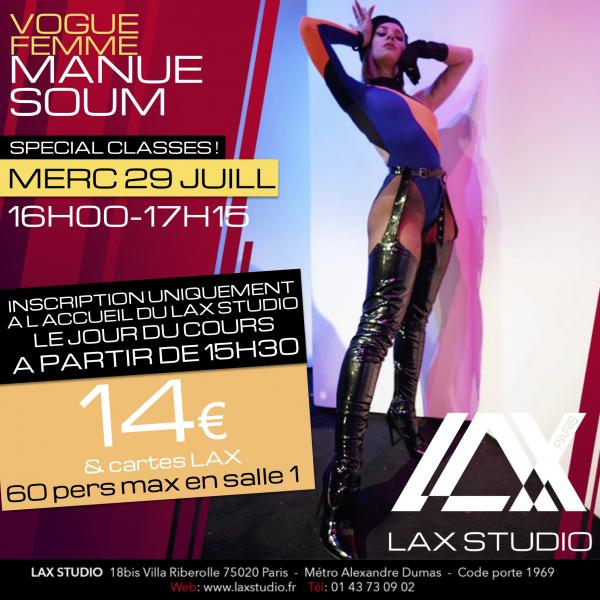 manue soum vogue voguing femme cours class paris lax studio laxstudio ecole school