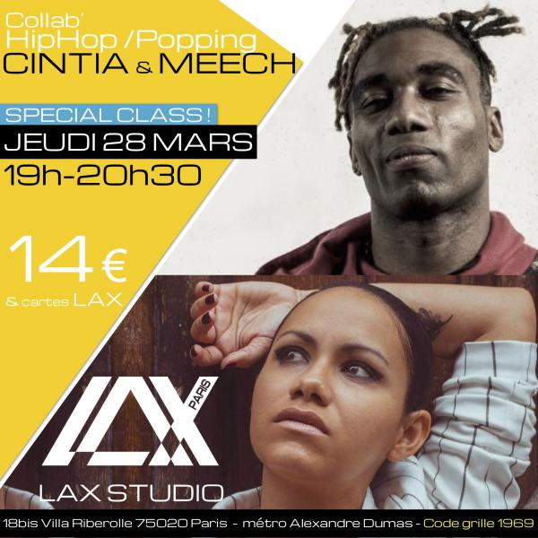 meech cintia hiphop cours class paris lax studio laxstudio ecole school