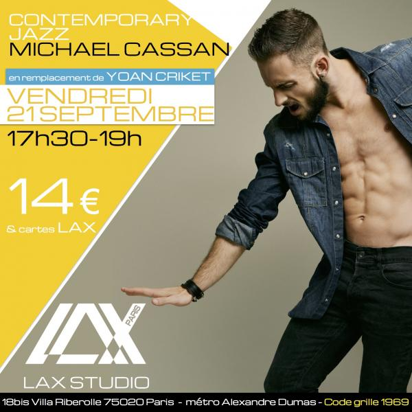 michael cassan contemporary jazz danse dance paris france lax studio ecole school jo dos santos