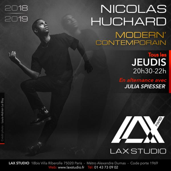nicolas huchard lax studio ecole school paris france cours class danse dance hiphop
