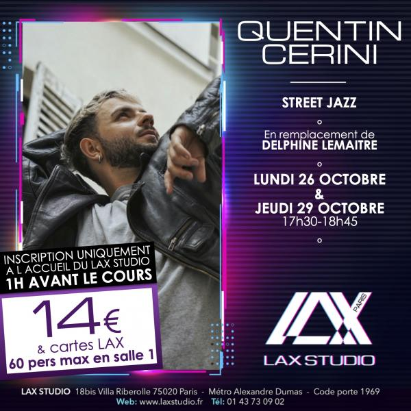 quentin cerini street jazz LAX STUDIO ECOLE SCHOOL DANSE DANCE PARIS FRANCE COURS CLASS HIPHOP
