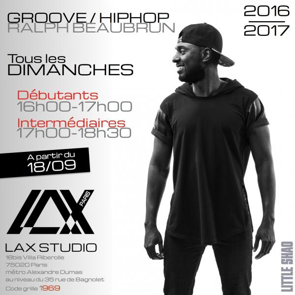 ralph beaubrun groove hiphop stage danse dance cours class paris france lax studio ecole school embodiment