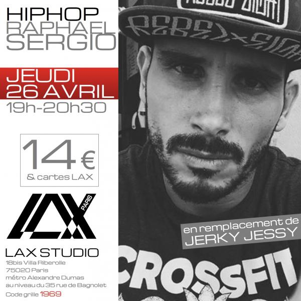 raphael sergio hiphop stage danse dance cours class paris france lax studio ecole school embodiment