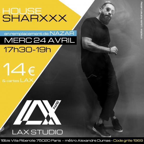 sharxxx house dance ecole school paris lax studio cours class hip hop danse