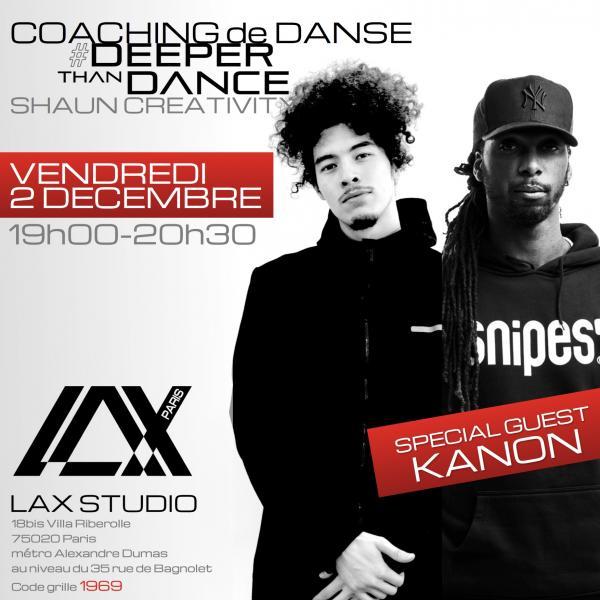 shaun creativity kanon deeper than dance ecole school paris lax studio cours class hip hop danse