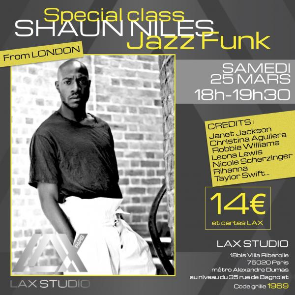 shaun niles jazz funk ecole school paris lax studio cours class hip hop danse