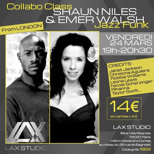 shaun niles emer walsh jazz funk ecole school paris lax studio cours class hip hop dance danse