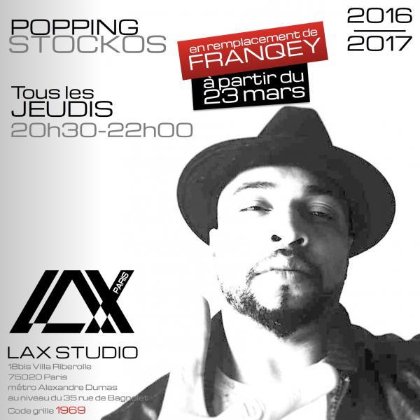franqey stockos popping lax studio ecole school class cours danse dance hiphop