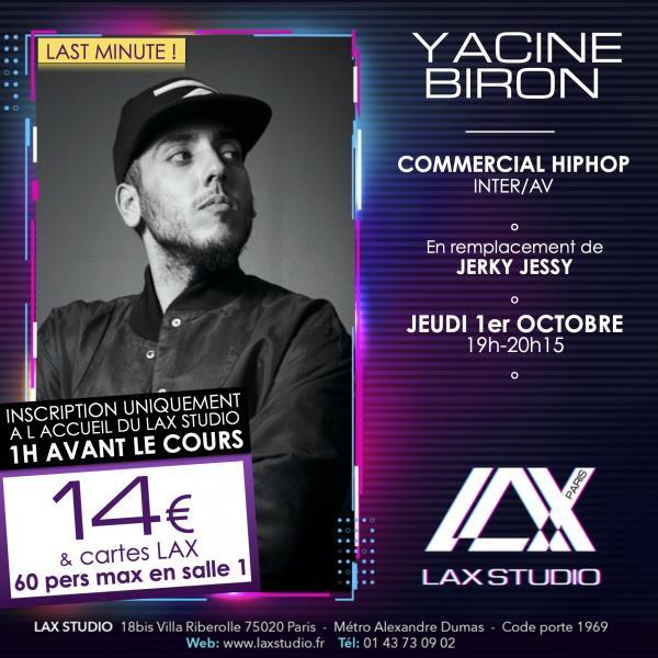 yacine biron hiphop commercial danse dance paris france lax studio ecole school cours class hiphop dance danse hip hop dancehall