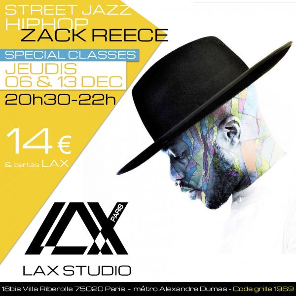 zack reece paris france lax studio ecole school cours class hiphop dance danse hip hop dancehall