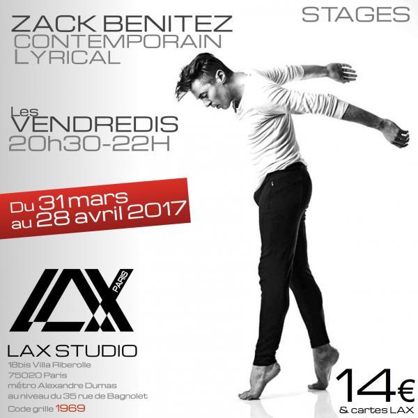 zack benitez contemporain lyrical workshop stage danse dance cours class paris france lax studio ecole school embodiment