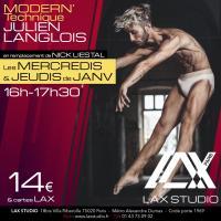 JULIEN LANGLOIS LAX STUDIO ECOLE SCHOOL DANSE DANCE PARIS FRANCE COURS CLASS HIPHOP